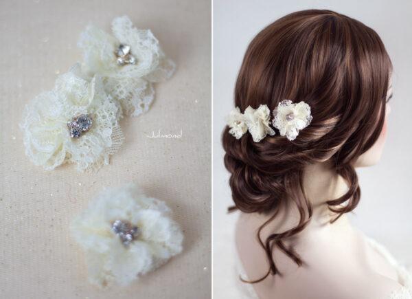 Iris Haarblüte Haarschmuck Blumen Haarclip-07