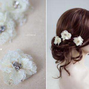 Iris Haarblüte Haarschmuck Blumen Haarclip-08