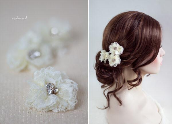 Iris Haarblüte Haarschmuck Blumen Haarclip-09