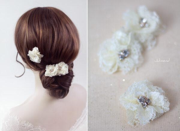 Iris Haarblüte Haarschmuck Blumen Haarclip-10