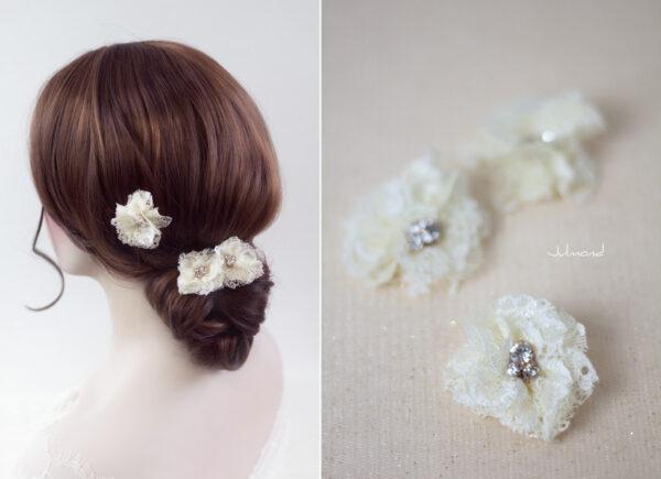 Iris Haarblüte Haarschmuck Blumen Haarclip-11
