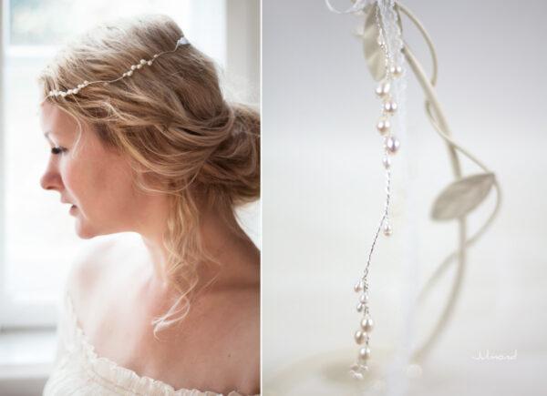 Isabell Haarband Perlen Hochzeit Tiara-13