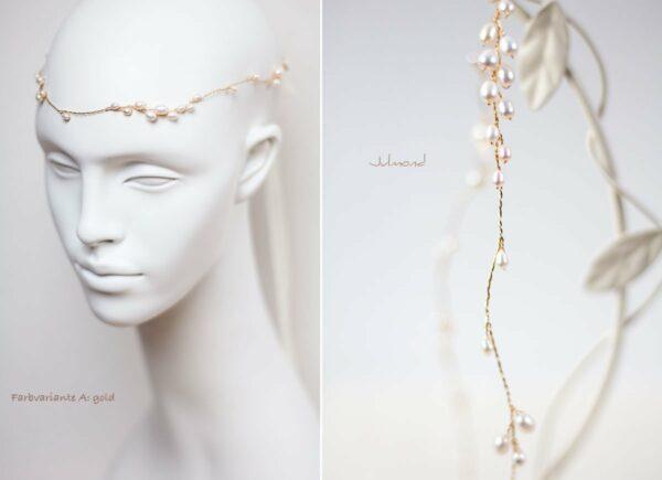 Isabell Haarband Perlen Hochzeit Tiara-16