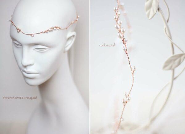 Isabell Haarband Perlen Hochzeit Tiara-17