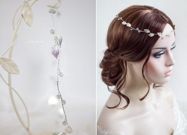 Ivana Haarschmuck Braut Elfenkrone Diadem Perlen Haarband-12