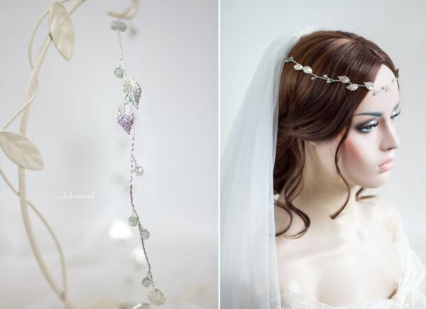 Ivana Haarschmuck Braut Elfenkrone Diadem Perlen Haarband-13