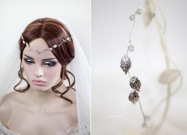 Ivana Haarschmuck Braut Elfenkrone Diadem Perlen Haarband-14