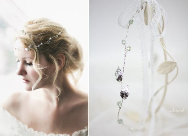 Ivana Haarschmuck Braut Elfenkrone Diadem Perlen Haarband-16