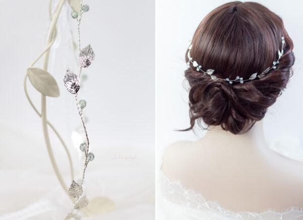 Ivana Haarschmuck Braut Elfenkrone Diadem Perlen Haarband-17
