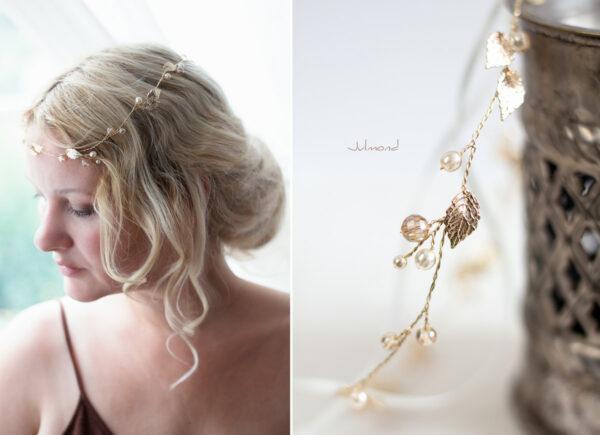 Ivana II Haarschmuck Braut Elfenkrone Diadem Perlen Haarband-17