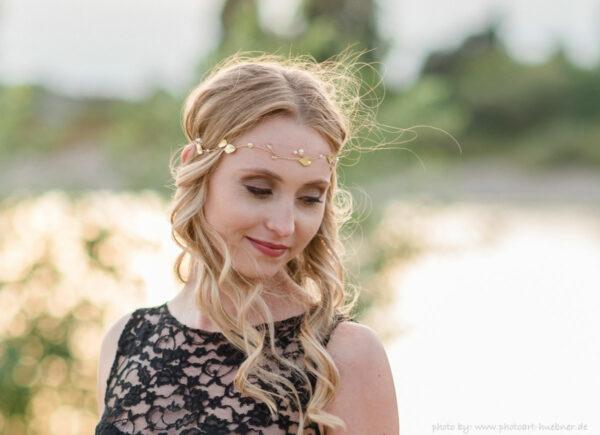 Ivana II Haarschmuck Braut Elfenkrone Diadem Perlen Haarband-20