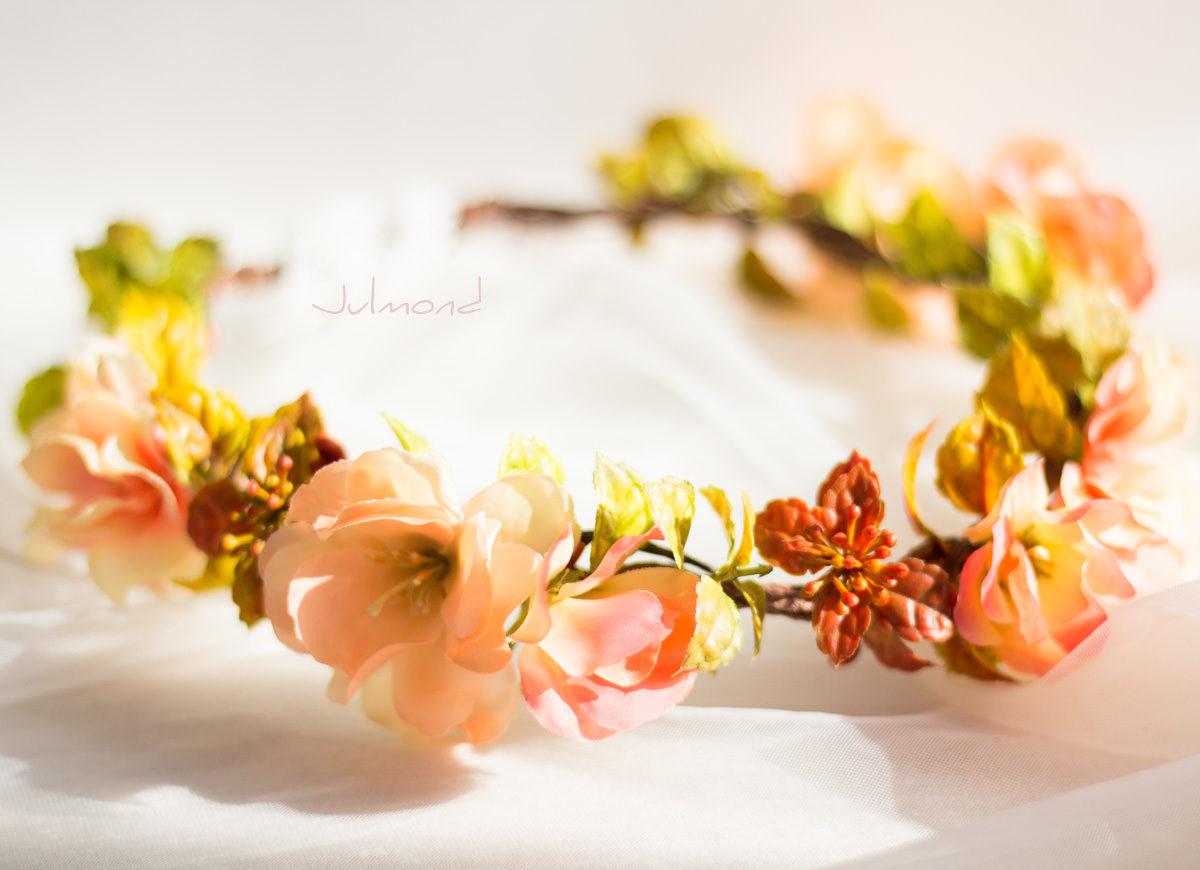 Jaira Blumenkranz Apricot Hochzeit-01