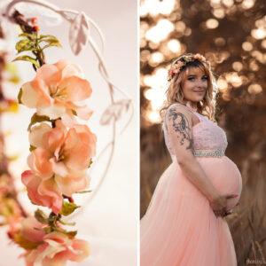 Jaira Blumenkranz Apricot Hochzeit-13