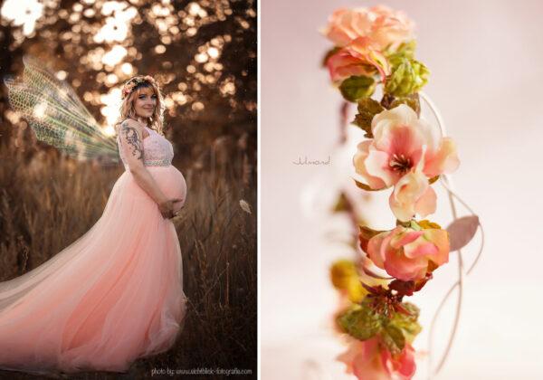 Jaira Blumenkranz Apricot Hochzeit-14
