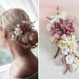 Jho Haarbluete Perlen Braut Haarschmuck Haarclip-01