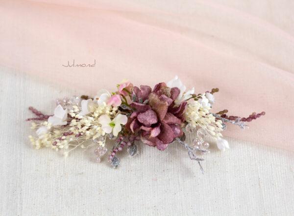 Jho Haarbluete Perlen Braut Haarschmuck Haarclip-03