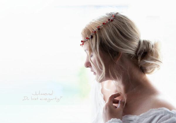 Juliet Haarschmuck Perlen Rot-05