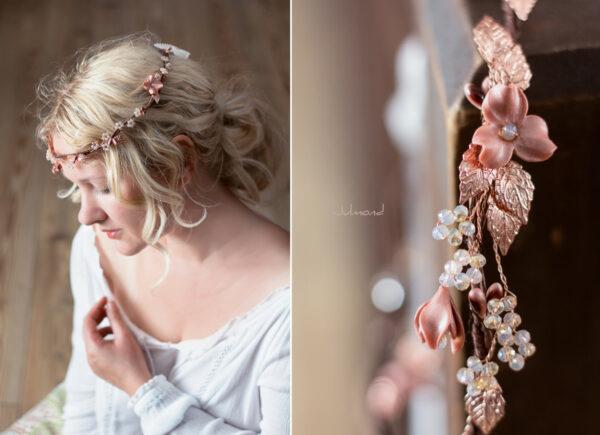Larea Haarschmuck Braut Rosegold Elfenkrone-01