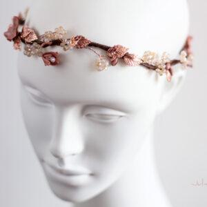Larea Haarschmuck Braut Rosegold Elfenkrone-04