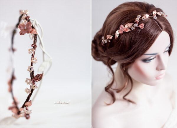Larea Haarschmuck Braut Rosegold Elfenkrone-05