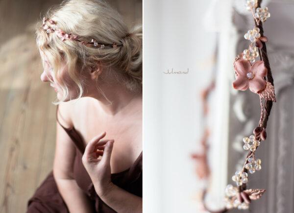 Larea Haarschmuck Braut Rosegold Elfenkrone-07