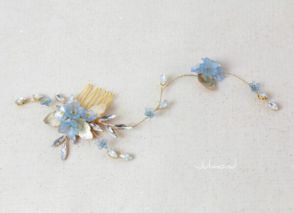 Lucila Braut Haarschmuck Blau Diadem-05