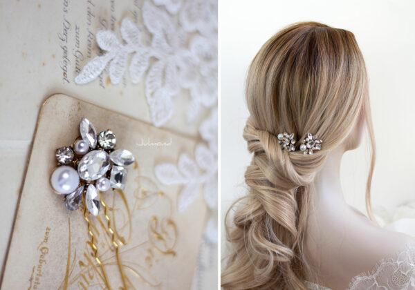 Mandy Haarnadeln Braut Perlen Haarschmuck-10