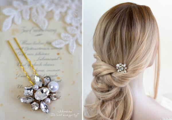 Mandy Haarnadeln Braut Perlen Haarschmuck-11