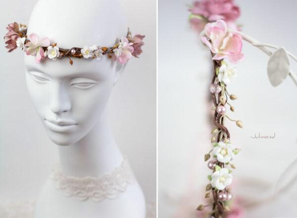 Maybritt Blumenkranz Haarband Blumen Hochzeit-19
