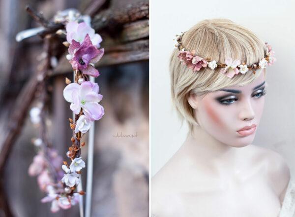 Maybritt Blumenkranz Haarband Blumen Hochzeit-21