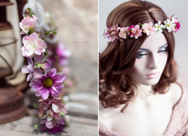 Melanie Blumenkranz Braut Hochzeit Haarband-10