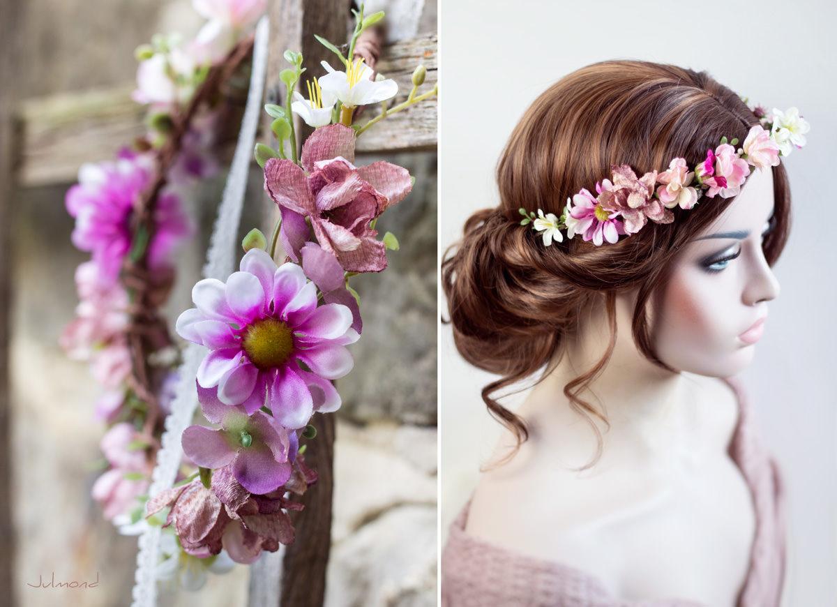 Melanie Blumenkranz Braut Hochzeit Haarband-11