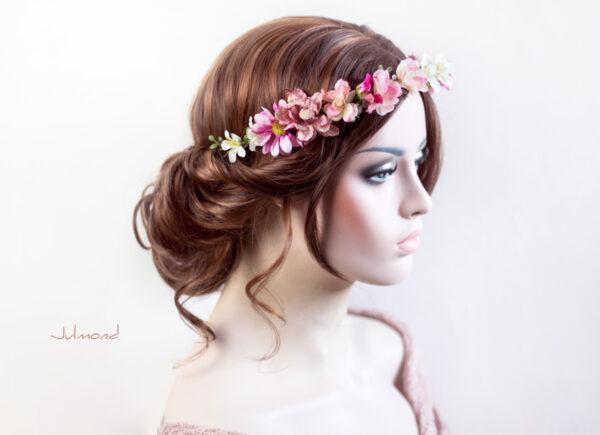 Melanie Blumenkranz Braut Hochzeit Haarband-12