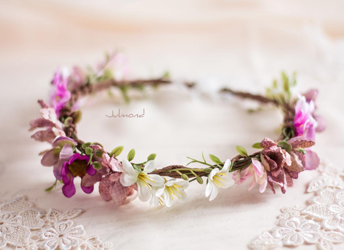 Melanie Blumenkranz Braut Hochzeit Haarband-14