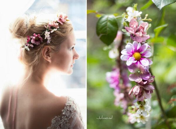 Melanie Blumenkranz Braut Hochzeit Haarband-20