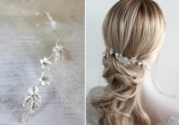 Napay Haarschmuck Braut Silber-10