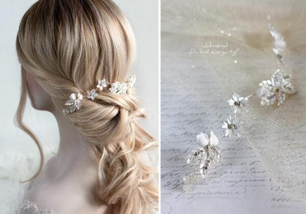 Napay Haarschmuck Braut Silber-11