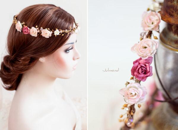 Nelda Haarband Blumen Perlen Braut Haarschmuck-02