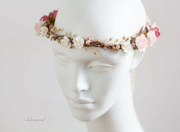 Nelda Haarband Blumen Perlen Braut Haarschmuck-03