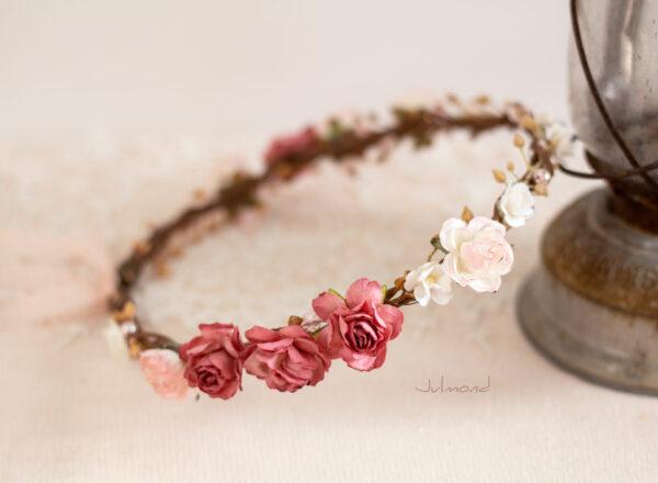 Nelda Haarband Blumen Perlen Braut Haarschmuck-04