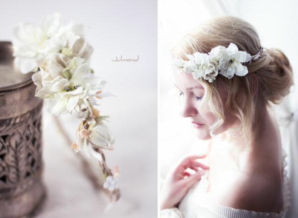 Rahel Vintage Blumenkranz Hochzeit Blumen Ivory-08