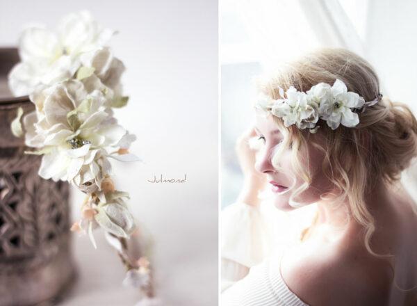 Rahel Vintage Blumenkranz Hochzeit Blumen Ivory-09