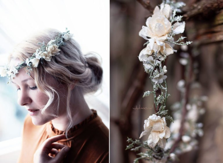 Rania Haarschmuck Winterhochzeit Blumenkranz-06