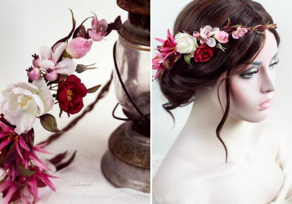 Redilia Blumenkranz Haarschmuck Brautkranz-35