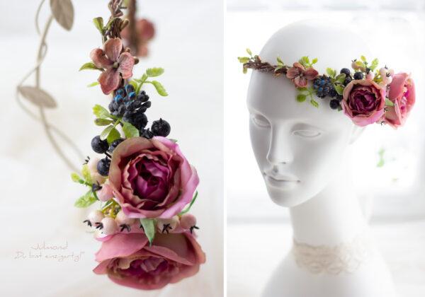 Sila Haarkranz Blumen Rosa-01