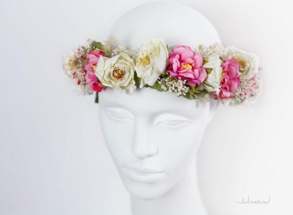 Sila Haarkranz Blumen Rosa-02