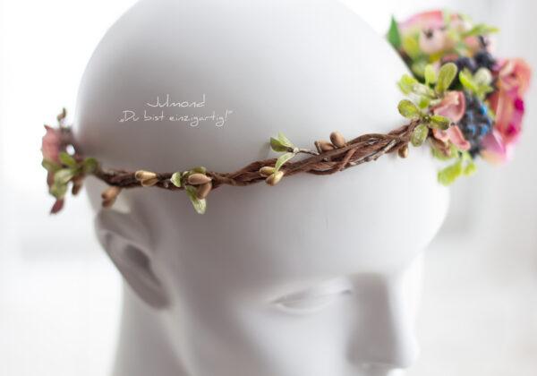 Sila Haarkranz Blumen Rosa-03