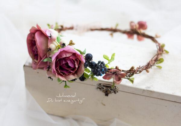 Sila Haarkranz Blumen Rosa-05