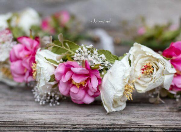 Sila Haarkranz Blumen Rosa-07