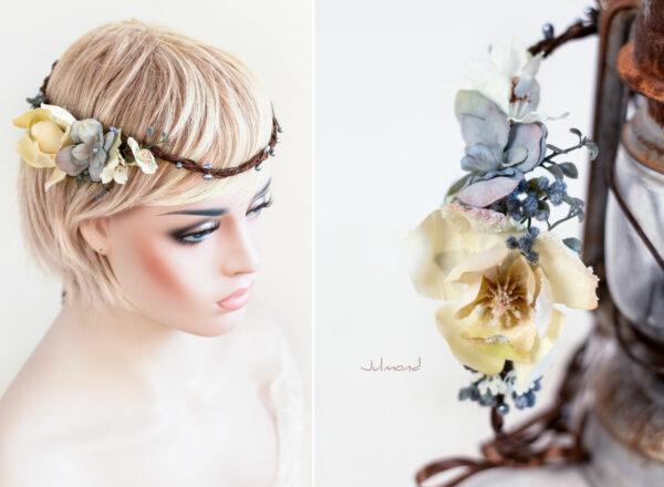 Skara Haarkranz Blumen Hochzeit Blumenkranz-04